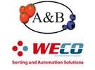 A&B and WECO logos