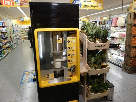 pinabar pineapple peeler machines for large dutch supermarket. Black Bedroom Furniture Sets. Home Design Ideas