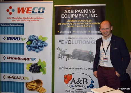 Maciej Chmielewski from Milbor, representing Weco/A&B Lakewood at Fruit Attraction exhabit in Madrid
