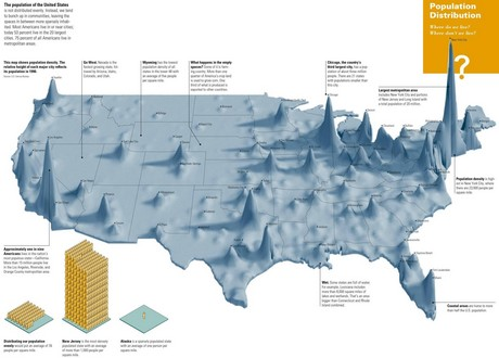 Population Density Of The United States - Us map with big cities