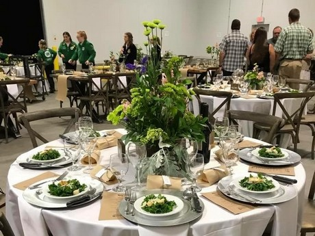 lunch table wp rawl hosts farm to table dinner at florida facility
