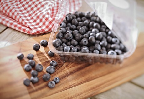 Blueberries in punnet