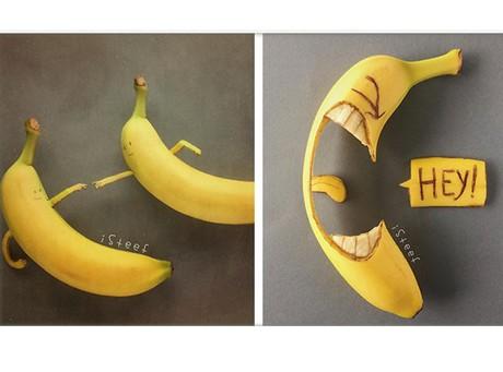 Drawing On Banana Peels