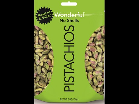 New Bright Green Packaging For No Shell Pistachios