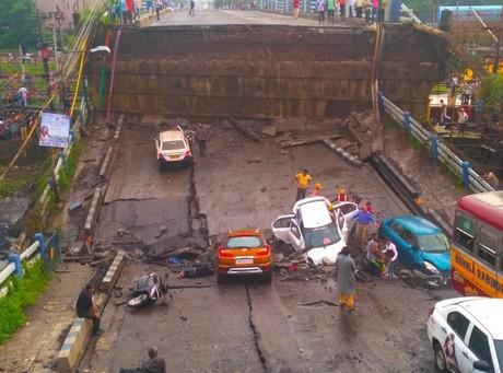 Bridge collapse endangers Nepal's imports